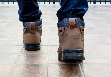 Tył butów roboczych