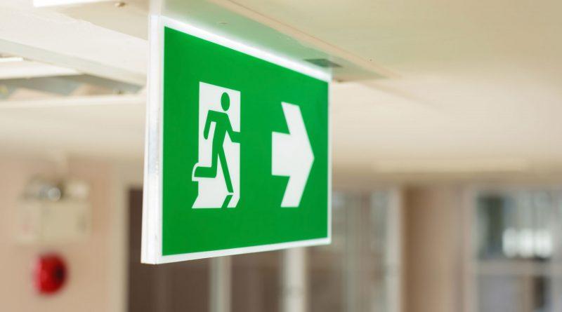 Kierunek do wyjścia ewakuacyjnego